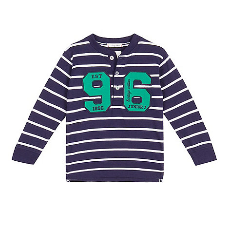 J by Jasper Conran - Boy+s navy shawl neck sweat cardigan