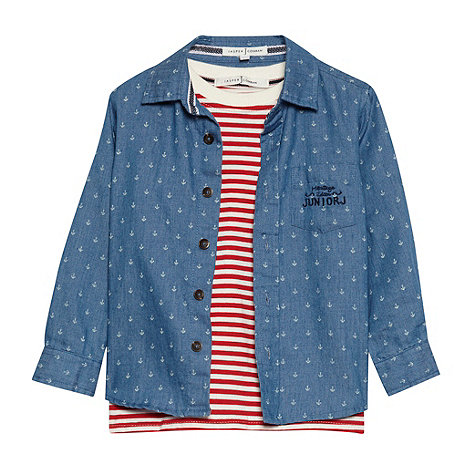 J by Jasper Conran - Designer boy+s blue t-shirt and shirt