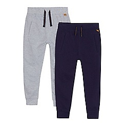 J by Jasper Conran - Boys' pack of two blue and grey jogging bottoms
