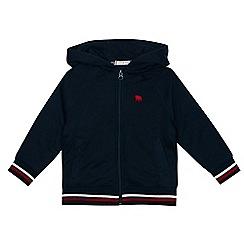 J by Jasper Conran - Boys' navy zip through sweater