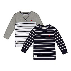 J by Jasper Conran - Pack of two boys' assorted striped tops
