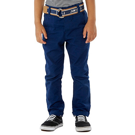 J by Jasper Conran - Boy+s blue  belted chino trousers