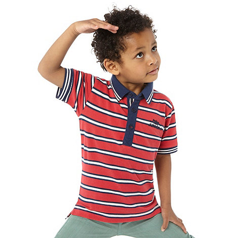 J by Jasper Conran - Boy+s red striped classic polo top