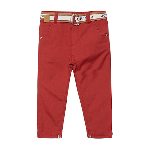 J by Jasper Conran - Boy+s red belted chino trousers