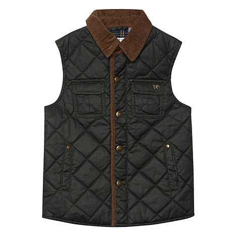 J by Jasper Conran - Boy+s dark grey waxed gilet