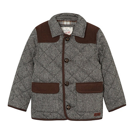 J by Jasper Conran - Boy+s grey tweed quileted jacket