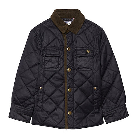 J by Jasper Conran - Boy+s navy waxed jacket