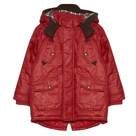 J by Jasper Conran - Designer boy+s red waxed coat