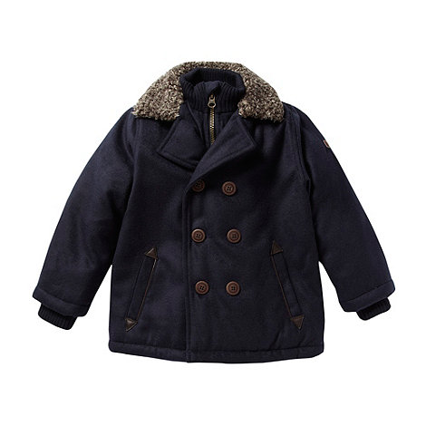 J by Jasper Conran - Designer boy+s navy borg collar coat