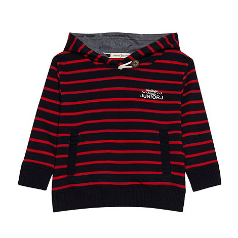 J by Jasper Conran - Boy+s multi contrast striped sweat hoodie