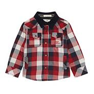 Boy's red checked shacket