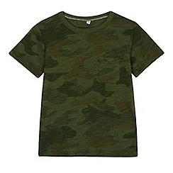 bluezoo - Boys' green camo print t-shirt