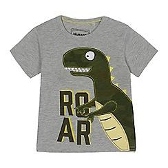 bluezoo - Boys' grey dinosaur applique t-shirt