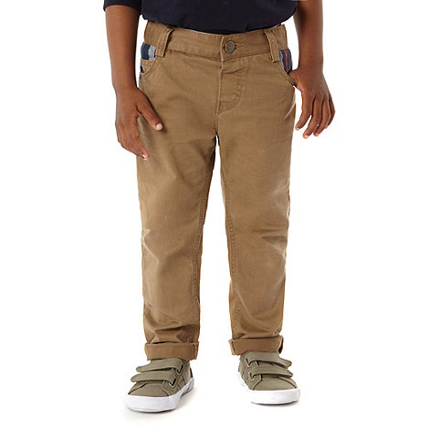J by Jasper Conran - Boy+s light brown ribbed waist chinos