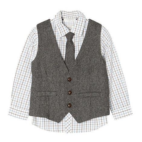 J by Jasper Conran - Boy+s grey waistcoat, shirt and tie set
