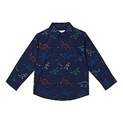 bluezoo - Boys' navy dinosaur print shirt