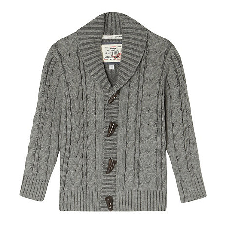 J by Jasper Conran - Boy+s grey plated cable cardigan