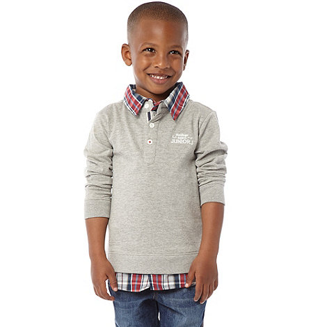 J by Jasper Conran - Designer boy+s grey mock shirt top
