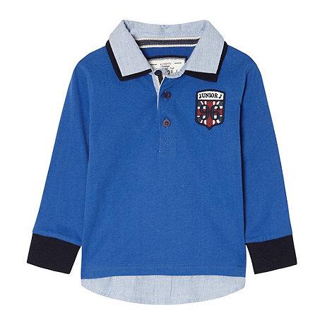 J by Jasper Conran - Designer boy+s blue collar polo shirt