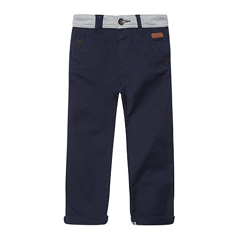 J by Jasper Conran - Boy+s navy jersey waist chino trousers