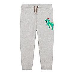 bluezoo - Boys' grey dinosaur applique jogging bottoms