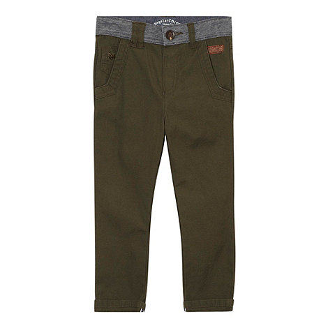 J by Jasper Conran - Boy+s olive jersey waist chino trousers