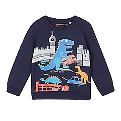 bluezoo - Boys' navy London print sweatshirt
