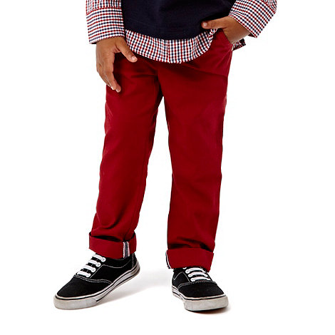 J by Jasper Conran - Boy+s red casual trousers