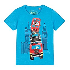 bluezoo - Boys' blue stacked car applique t-shirt