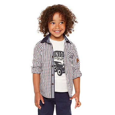 J by Jasper Conran - Designer boy+s brown shirt and t-shirt set