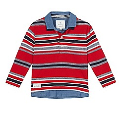 J by Jasper Conran - Boys' red striped mock shirt top