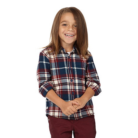 J by Jasper Conran - Boy+s multi long sleeved checked shirt