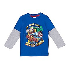 Marvel - Boys' blue 'Superhero' print top