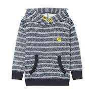 Boy's grey striped cowl neck sweater