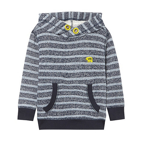 RJR.John Rocha - Boy+s grey striped cowl neck sweater
