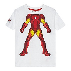 Iron Man - Boys' white 'Iron Man' print t-shirt