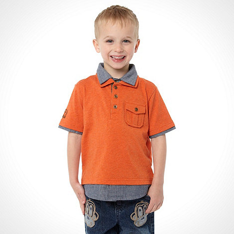 RJR.John Rocha - Boy+s orange mock sleeved polo top