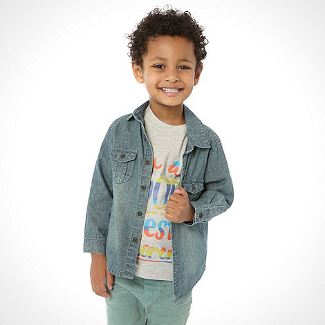 RJR.John Rocha - Boy+s blue denim shirt and t-shirt set