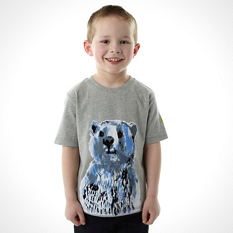 RJR.John Rocha - Boy+s grey bear printed top