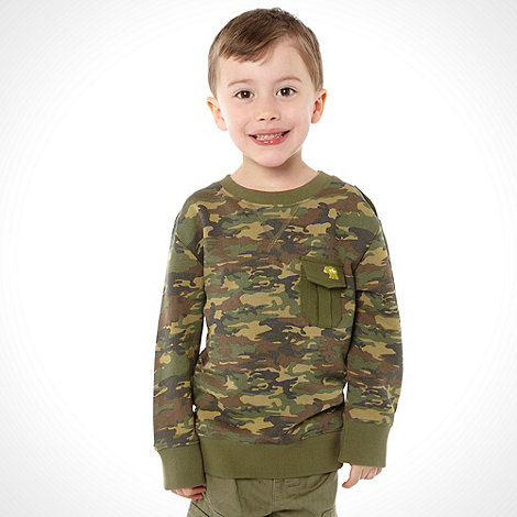 RJR.John Rocha - Boy+s green camo printed sweater