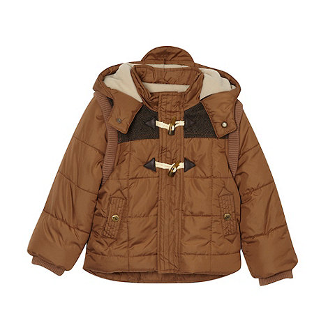RJR.John Rocha - Boy+s brown 2 in 1 coat