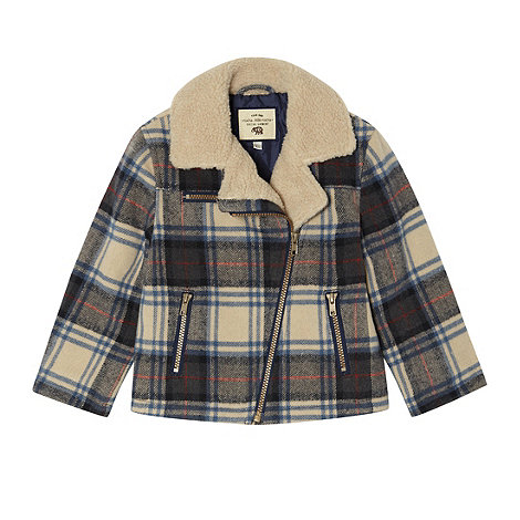 RJR.John Rocha - Boy+s multi checked biker jacket