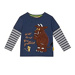 The Gruffalo - Boys' navy 'Gruffalo' mock top