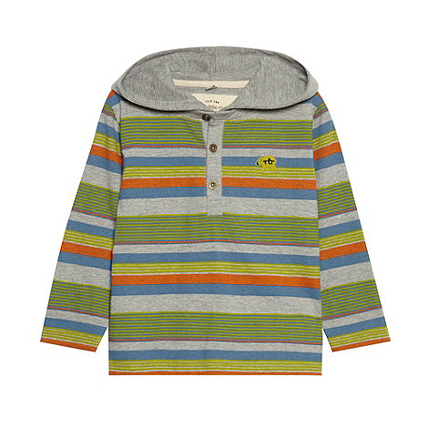 RJR.John Rocha - Boy+s green long sleeved hooded polo top