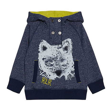 RJR.John Rocha - Boy+s blue wolf printed sweater