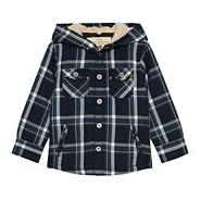 Boy's blue checked shacket