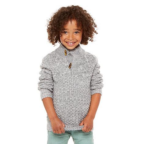 RJR.John Rocha - Boy+s grey knitted funnel neck jumper