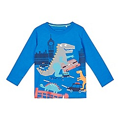 bluezoo - Boys' blue dinosaur print top