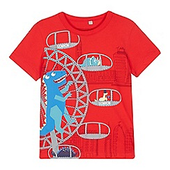 bluezoo - Boys' red 'Dino Millenium' print t-shirt