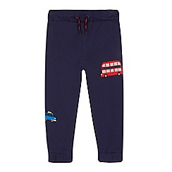 bluezoo - Boys' blue London applique jogging bottoms